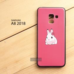 เคส Samsung Galaxy A8 2018 เคสนิ่ม TPU พิมพ์ลาย (ขอบดำ) แบบที่ 1