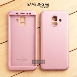 เคส Samsung Galaxy A6 เคสแข็ง 3 ส่วน ครอบคลุม 360 องศา (สีโรสโกลด์ - โรสโกลด์)