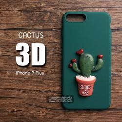เคสสำหรับ iPhone 7 Plus เคสแข็ง 3D นูนสูง รูปต้นกระบองเพชร แบบที่ 3