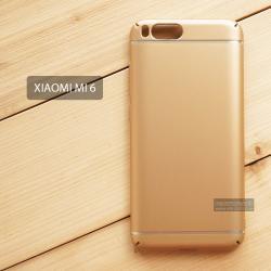 เคส Xiaomi Mi 6 เคสแข็งสีเรียบ คลุมขอบ 4 ด้าน สีทอง (แถบสีเงิน บน-ล่าง)