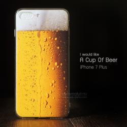 เคส iPhone 7 Plus และ 8 Plus เคสนิ่ม TPU พิมพ์ลาย แก้วเบียร์