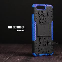 เคส Huawei P10 กรอบบั๊มเปอร์ กันกระแทก Defender (เป็นขาตั้งได้) สีน้ำเงิน