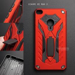 เคส Xiaomi MI MAX 2 เคสบั๊มเปอร์ กันกระแทก Defender 2 ชั้น (พร้อมขาตั้ง) สีแดง (แบบที่ 2)