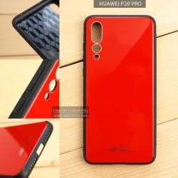 เคส Huawei P20 Pro เคสขอบนิ่มสีดำ ฝาหลังอะครีลิคแข็ง (สีแดง-ผิวเงา)