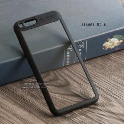 เคส Xiaomi Mi 6 เคส Hybrid ฝาหลังอะคริลิคใส ขอบยางกันกระแทก แบบที่ 2 (ขอบนูนรอบกล้อง) สีดำ
