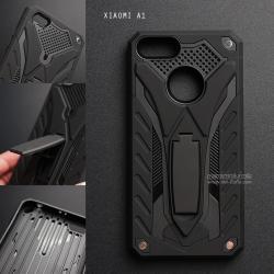 เคส Xiaomi MI A1 เคสบั๊มเปอร์ กันกระแทก Defender 2 ชั้น (พร้อมขาตั้ง) สีดำ (แบบที่ 2)