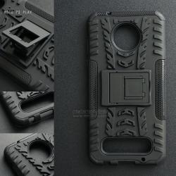 เคส Moto Z2 Play เคสบั๊มเปอร์ กันกระแทก Defender (พร้อมขาตั้ง) สีดำ