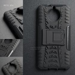 เคส Moto G5s เคสบั๊มเปอร์ กันกระแทก Defender (พร้อมขาตั้ง) สีดำ