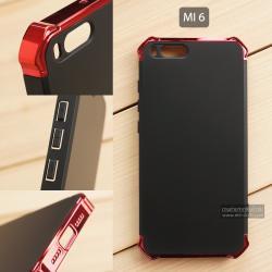 เคส Xiaomi Mi 6 เคสแข็ง 3 ส่วน (เสริมมุมลดแรงกระแทก) ครอบคลุม 360 องศา (สีแดงเงา - สีดำ)