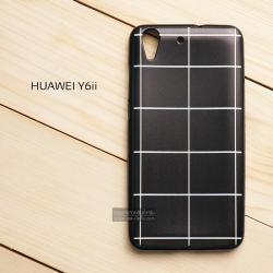 เคส Huawei Y6II เคสนิ่มพิมพ์ลาย (ขอบดำ) แบบที่ 6