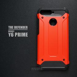 เคส Huawei Y6 Prime เคสบั๊มเปอร์ (เสริมขอบกันกระแทก) สีส้มอมแดง Hybrid Protection