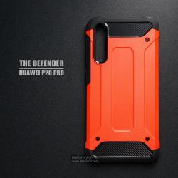 เคส Huawei P20 Pro เคสบั๊มเปอร์ (เสริมขอบกันกระแทก) สีส้มอมแดง Hybrid Protection