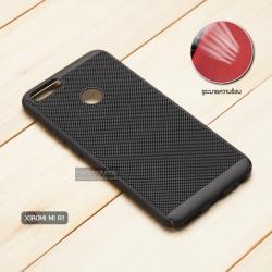 เคส Xiaomi Mi A1 เคสแข็งสีเรียบ (รูระบายอากาศที่เคส) สีดำ
