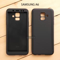 เคส Samsung Galaxy A6 เคสแข็ง 2 ส่วน ครอบคลุม 360 องศา (สีดำ)