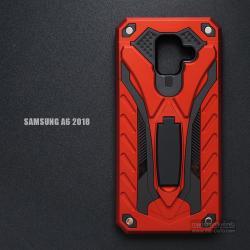 เคส Samsung Galaxy A6 (2018) เคสบั๊มเปอร์ กันกระแทก Defender 2 ชั้น (พร้อมขาตั้ง) สีแดง (แบบที่ 2)