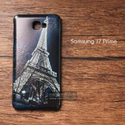 เคส Samsung Galaxy J7 Prime เคสนิ่มสกรีนลาย 3D (ขอบดำ) ลายที่ 4 Night Eiffel