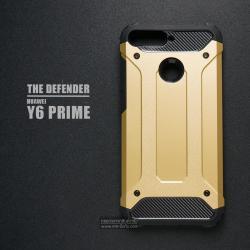 เคส Huawei Y6 Prime เคสบั๊มเปอร์ (เสริมขอบกันกระแทก) สีทอง Hybrid Protection