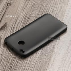 เคส Xiaomi Redmi 4X เคสนิ่ม TPU สีเรียบ สีดำ