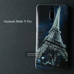 เคส Huawei Mate 9 Pro เคสนิ่มสกรีนลาย 3D (ขอบดำ) ลายที่ 1 Night Eiffel