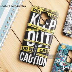เคส Samsung Galaxy A6+ (PLUS) 2018 เคส Hybrid เกรดพรีเมี่ยม 2 ชั้น ขอบยางลดแรงกระแทก พร้อม (ขาตั้ง + สายคล้องนิ้ว) พิมพ์ลายนูน แบบที่ 8