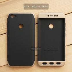 เคส Xiaomi Redmi Note 5A Prime เคสแข็ง 3 ส่วน ครอบคลุม 360 องศา (สีดำ - ทอง)