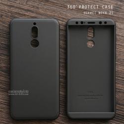 เคส Huawei Nova 2i เคสแข็งแบบ 3 ส่วน ครอบคลุม 360 องศา (สีดำ - ดำ)