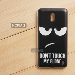 เคส Nokia 2 เคสนิ่ม TPU พิมพ์ลาย แบบที่ 6 Don't touch my phone
