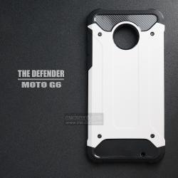 เคส MOTO G6 เคสบั๊มเปอร์ (เสริมขอบกันกระแทก) สีขาว Hybrid Protection