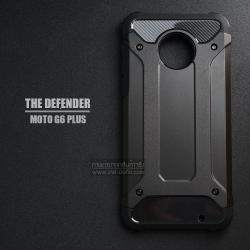 เคส MOTO G6 Plus เคสบั๊มเปอร์ (เสริมขอบกันกระแทก) สีดำ Hybrid Protection