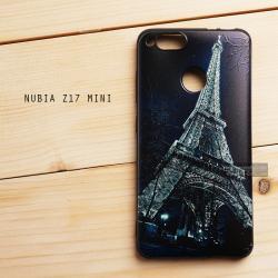 เคส Nubia Z17 mini เคสนิ่มพิมพ์ลายนูน (ขอบดำ) แบบ 3 Night Eiffel
