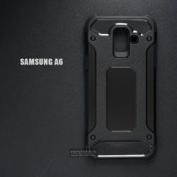 เคส Samsung Galaxy A6 เคสบั๊มเปอร์ (เสริมขอบกันกระแทก) สีดำ Hybrid Protection (Series 2)