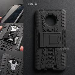 เคส MOTO X4 เคสบั๊มเปอร์ กันกระแทก Defender (พร้อมขาตั้ง) สีดำ