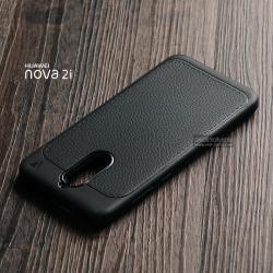 เคส Huawei Nova 2i เคสนิ่ม Hybrid เกรดพรีเมี่ยม ลายหนัง (ขอบนูนกันกล้อง)