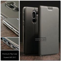 เคส Huawei GR5 2017 เคสฝาพับเกรดพรีเมี่ยม (เย็บขอบ) พับเป็นขาตั้งได้ สีเทา (Dux Ducis)