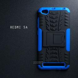 เคส Redmi 5A เคสบั๊มเปอร์ กันกระแทก Defender (พร้อมขาตั้ง) สีน้ำเงิน