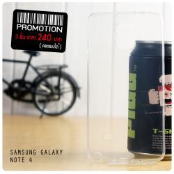 เคส Samsung Galaxy Note 4 เคสยางใส Super Slim TPU บางพิเศษ พร้อมจุด Pixel ขนาดเล็กด้านในเคสป้องกันเคสติดกับตัวเครื่อง