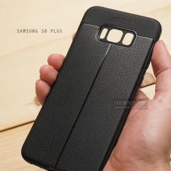 เคส Samsung Galaxy S8 Plus เคสนิ่ม Hybrid เกรดพรีเมี่ยม ลายหนัง (ขอบนูนกันกล้อง) แบบที่ 2 (มีเส้นตรงกลาง)