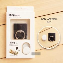 ( สำหรับลูกค้าที่สั่งซื้อสินค้า 100 บาท ขึ้นไป ไม่รวมค่าจัดส่ง) RING HOLDER แหวนมือถือพร้อมที่แขวน ( ป้องกันการตกหล่น ใช้เป็นขาตั้งได้ ฯลฯ ) สีดำ
