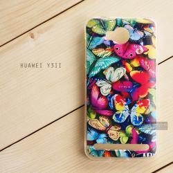 เคส Huawei Y3II (Y32) เคสนิ่ม TPU พิมพ์ลาย แบบที่ 3 Colorful Butterfly