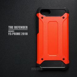 เคส Huawei Y5 Prime เคสบั๊มเปอร์ (เสริมขอบกันกระแทก) สีส้มอมแดง Hybrid Protection