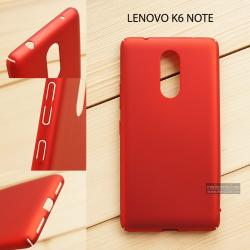 เคส Lenovo K6 Note เคสแข็งสีเรียบ คลุมขอบ 4 ด้าน สีแดง