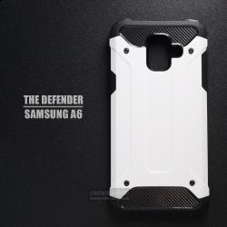 เคส Samsung Galaxy A6 เคสบั๊มเปอร์ (เสริมขอบกันกระแทก) สีขาว Hybrid Protection