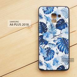 เคส Samsung Galaxy A8+ (PLUS) 2018 เคสนิ่ม TPU พิมพ์ลาย (ขอบดำ) แบบที่ 4