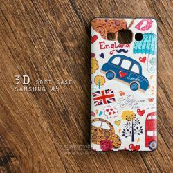 เคส Samsung Galaxy A5 เคสนิ่ม 3D พิมพ์ลายนูน London/England