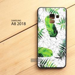 เคส Samsung Galaxy A8 2018 เคสนิ่ม TPU พิมพ์ลาย (ขอบดำ) แบบที่ 3