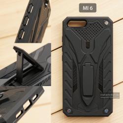 เคส Xiaomi Mi 6 เคสบั๊มเปอร์ กันกระแทก Defender 2 ชั้น (พร้อมขาตั้ง) สีดำ (แบบที่ 2)