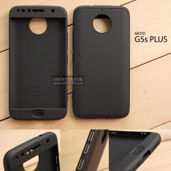 เคส MOTO G5s Plus เคสแข็งแบบ 3 ส่วน ครอบคลุม 360 องศา (สีดำ - ดำ)