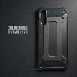 เคส Huawei P20 เคสบั๊มเปอร์ (เสริมขอบกันกระแทก) สีดำ Hybrid Protection