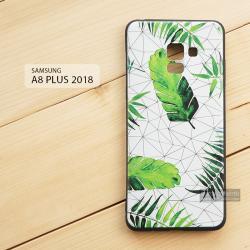 เคส Samsung Galaxy A8+ (PLUS) 2018 เคสนิ่ม TPU พิมพ์ลาย (ขอบดำ) แบบที่ 7