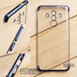 เคส Huawei Mate 10 Pro เคสนิ่ม SLIM TPU สีใส ขอบเงา ( สีน้ำเงิน )